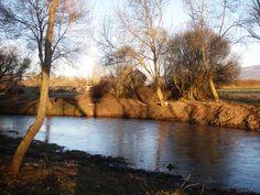 atardecer en la ribera del río Corneja