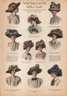 Lady hat fashion, 1910