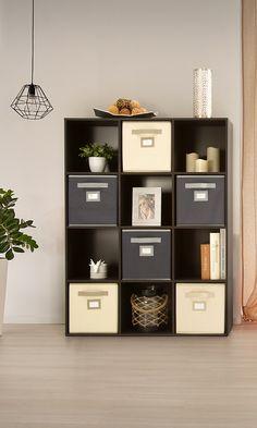 Organizador de cubos, decoración y organización del hogar. Organizador multiusos.