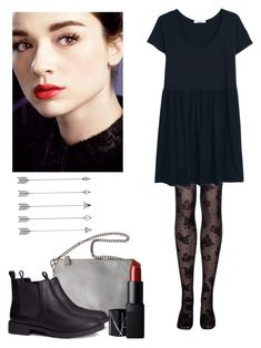 """Allison argent"" by shadyannon ❤ liked on Polyvore featuring MANGO, Jil Sander, H&M and NARS Cosmetics"