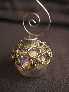 Chainmaille Christmas Ornament  Silver by SaltCityChains on Etsy, $15.00