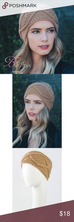🆕 Taupe Diamond Knit Wide Headband Diamond crochet knit wide headband. Perfect fall/ winter accessory to complete your outfit. Made of 100% acrylic. Available in taupe, black and burgundy colors. This listing is for taupe Bchic Accessories Hair Accessories