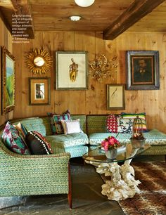 Love the mix of pillows and vintage.