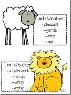 march goes out like a lion and in like a lamb Preschool Themes, Preschool Crafts, Lion Lamb, March Lesson Plans, Lamb Craft, Preschool Weather, March Themes, March Crafts, Spring School