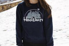 Harry Potter Clothing Hogwarts Castle Blue Crewneck Sweatshirt
