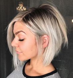 Razored Blonde Balayage Bob