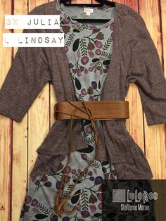 Purple, gray and floral...and the coziest Lindsay!  #lularoe #ootd #fallfashion