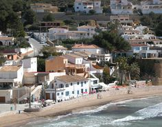 The beachscape of Moraira. Alicante, Moraira, Spain Holidays, Countries Of The World, Valencia, Street View, Mansions, Country, House Styles