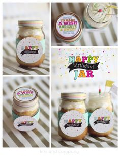 Happy Birthday Jar by kiki and company on the Mason Jar Label design Contest