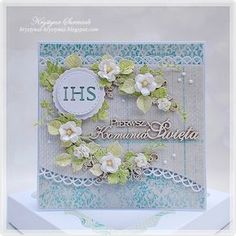 First Communion Cards, First Holy Communion, Pretty Cards, Cute Cards, Diy And Crafts, Arts And Crafts, Paper Crafts, Quilling, All Paper