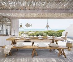 15 Fantastic Beach Style Designs For Your Outdoor Areas - Style MotivationYou can find Beach house and more on our Fantastic Beach . Terrace Design, Villa Design, House Design, Design Hotel, Design Art, Design Ideas, Style At Home, Dream Beach Houses, Beach House Decor