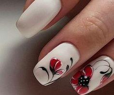 Christmas Nail Designs - My Cool Nail Designs Cool Nail Designs, Acrylic Nail Designs, Acrylic Nails, Spring Nails, Summer Nails, Nagellack Design, Flower Nail Art, Beautiful Nail Art, Simple Nails