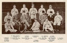 An early team with Steve Bloomer on base and Jack Robinson on Francis Ley is in the bowler. British Football, Derby County, Esquire, Nostalgia, Club, Baseball, History, Awkward, Cricket