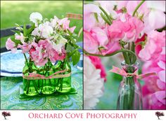 Sweetpea details.  Photo by Orchard Cove Photography.