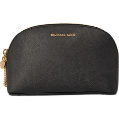 Michael Kors Alex LG Travel cosmetic pouch (6.935 RUB) ❤ liked on Polyvore featuring beauty products, beauty accessories, bags & cases, bags, makeup, black, wash bag, black travel bag, michael kors and toiletry kits