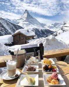 travel aesthetic Breakfast in Zermatt, Switzerland Zermatt, Voyage Europe, Beautiful Places To Travel, Future Travel, Winter Activities, Travel Aesthetic, Travel Goals, Oh The Places You'll Go, Dream Vacations