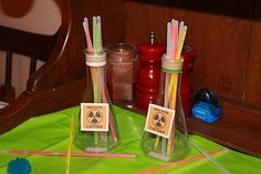 Science Party - decoration, food, experiments