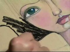 artist is willowing on youtube; tamara laporte. I love her fabulous faces art class!