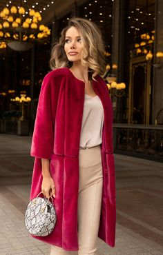 Fur Fashion, Vogue Fashion, Look Fashion, Hijab Fashion, Fashion Dresses, Fashion Trends, Casual Winter Outfits, Classy Outfits, Mode Chic