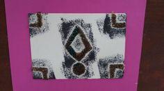 Original stamp A texture designed Velcro on cardboard       חותמת מקורית א' עם טקסטורה שעוצבה מסקוץ' על קרטון