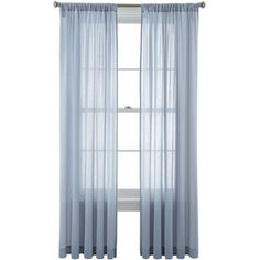Sheer Curtains, Rod Pocket Curtains, Curtain Rods, Drapery Rods, Window  Treatments, Window Coverings, Louise Johnson, Pockets, Martha Stewart Home