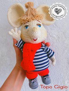 Topo Gigio crochet: Maria Martinez Amigurumi |