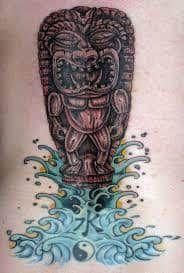 Tiki Tattoo 29 Hawaiian Tattoo Meanings, Tiki Tattoo, Hawaiian Tiki, Cool Tats, Future Tattoos, Pretty Face, Tattoo Designs, Tattoo Ideas, Tatting
