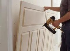 Wainscoting DIY - buy pre-made wainscot...nail to wall...paint