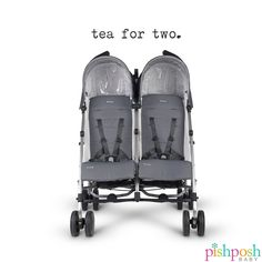 The G-Link double is a lightweight and agile stroller that has all the features of a g-luxe in a double stroller. It has 4-position, individual seat recline, hand level fold triggers, height adjustable canopies, and is self standing when folded! 3 colors now in stock (shown: the G-Link in Pascal) - $499.99. Shop the link in bio!  http://www.pishposhbaby.com/uppababy-glink-double.html