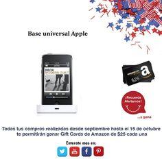 ¿Necesitas tener todos tus aparatos conectados? Base Universal Apple.  http://amzn.com/B004G5ZA5K