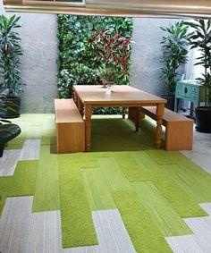 Výsledek obrázku pro interface carpet office biophilic.  Interface, Near & Far, UR501 and Human Nature HN830.