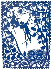 Our Adventure is About to Begin - papercut by Rob Ryan