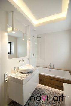 Nowoczesna łazienka z klasycznym akcentem - Architektura, wnętrza, technologia, design - HomeSquare