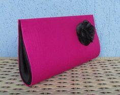 Clutch Pink/Flor Preta