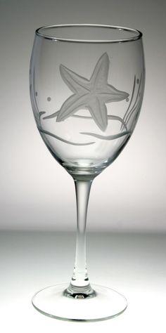 Starfish Design Wine Goblets