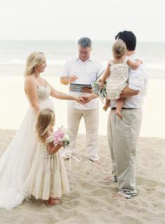 A family affair: http://www.stylemepretty.com/2015/08/05/the-sweetest-atlantic-coast-family-vow-renewal/   Photography: Michael & Carina - http://michaelandcarinaphotography.com/