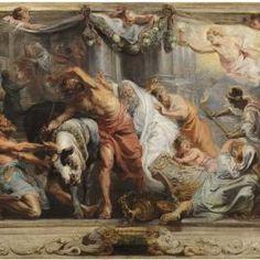Rubens, Pedro Pablo - Colección - Museo Nacional del Prado - La victoria de la Eucaristía sobre la Idolatría Óleo sobre tabla, Hacia 1625 RUBENS, PEDRO PABLO
