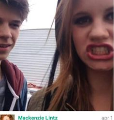 Mackenzie lintz's vine with Colin! Look at how Colin's looking at her!(: