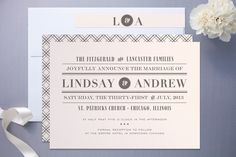 front page news wedding invitation
