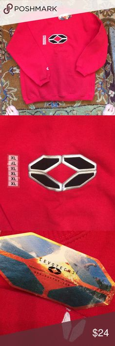 NWT  NO FEAR SWEATSHIRT!! NWT -XL RED LONG SLEEVE SWEAT SHIRT! Black/white logo on front also logo on sleeve '80% cotton/20%polyester NO FEAR Shirts & Tops Sweatshirts & Hoodies