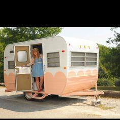 Pink Vintage Camper