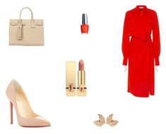 """""""Untitled #9645"""" by mie-miemie ❤ liked on Polyvore featuring Altuzarra, Christian Louboutin, Yves Saint Laurent and OPI"""