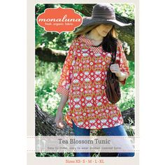 Tea Blossom Tunic by Monaluna - Beginner - Womens Tunic Sewing Pattern - Womens Sewing Pattern - Blouse Pattern - Sewing Pattern