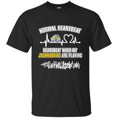 South Dakota State Jackrabbits T shirts Heartbeat When My Jackrabbits Playing Hoodies Sweatshirts