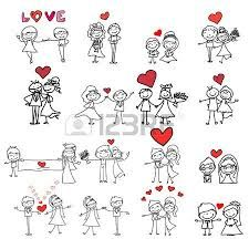 Illustration of hand drawing cartoon happy couple wedding vector art, clipart and stock vectors. Love Doodles, Wedding Couples, Cute Couples, Wedding Couple Cartoon, Wedding Hands, Love Illustration, Wedding Illustration, Mom Tattoos, Stick Figures