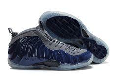 843f286859c0b Nike Air Foamposite One Navy Blue Grey