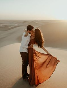 Britt from Bachelor Engagement // Imperial/Algodones Sand Dunes in Southern California San Diego engagement photos