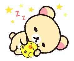 LINE Official Stickers - Always with Rilakkuma Stickers Example with GIF Animation Cartoon Gifs, Bear Cartoon, Cute Cartoon, Polymer Clay Kawaii, Polymer Clay Animals, Cute Good Morning, Night Pictures, Japanese Characters, Good Night Image