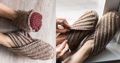 Crochet these Wrap Slippers (Free Patterns)