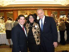 Councilman Vince Gentile, Foundation President Camille Orrichio Loccisano, and Senator Charles Schumer